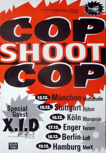 cop shoot cop 1994 tourplakat concert oberhausen. Black Bedroom Furniture Sets. Home Design Ideas