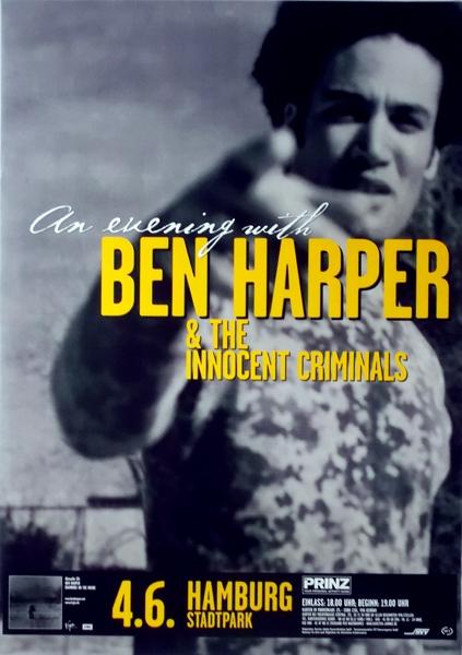 Ben Harper  Tour Poster