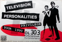 TELEVISION PERSONALITIES - 1990 - Konzertplakat - Privilege - Tourposter - Olden