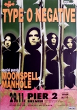 TYPE O NEGATIVE - 1996 - Konzertplakat - October Rust - Tourposter - Bremen