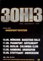 30H!3 - 2011 - Tourplakat - Concert - Streets of Gold - Tourposter