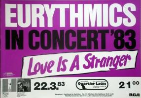 EURYTHMICS - 1983 - Plakat - Concert - Love is a Stranger Tour - Poster - Berlin