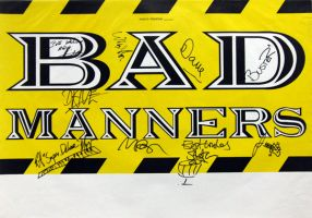 BAD MANNERS - XXXX - Tourplakat - In Concert - 90er - Tourposter - Signiert
