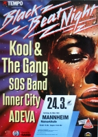 BLACK BEAT NIGHT - 1990 - Plakat - Kool & the Gang - Adeva - Poster - Mannheim