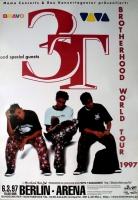 3T - 3 T - 1997 - Konzertplakat - Concert - Brotherhood - Tourposter - Berlin