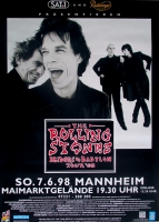 ROLLING STONES - 1998-06-07 - Plakat - Bridges to - Poster - Mannheim (G) A0