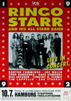 STARR, RINGO - BEATLES - 1992 - Plakat - Concert - Joe Walsh - Poster - Hamburg
