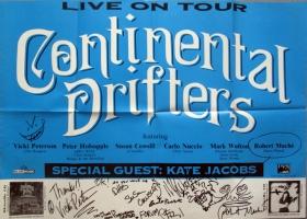 CONTINENTAL DRIFTERS - 1994 - Konzertplakat - Bangles - R.E.M. - Poster - signed