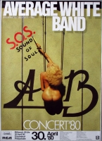 AVERAGE WHITE BAND - 1980 - Plakat - Sound of.. Tour - Poster - Düsseldorf