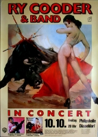 COODER, RY - 1980 - Plakat - In Concert - Borderline Tour - Poster - Düsseldorf