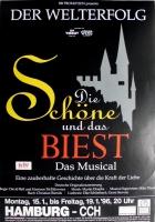 DIE SCHÖNE UND DAS BIEST - 1996 - Plakat - Musical - Poster - Hamburg