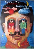 MENSCH UND WETTER - Plakat - Hessischer Rundfunk - Günther Kieser - Poster