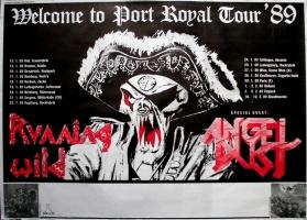 RUNNING WILD - 1989 - Tourplakat - Welcome to Port - Angel Dust - Tourposter