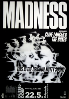 MADNESS - 1980 - Konzertplakat - Concert - Absolutely - Tourposter - Düsseldorf