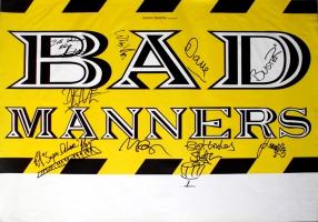 BAD MANNERS - XXXX - Tourplakat - Concert - Tourposter - Autogramme / signed