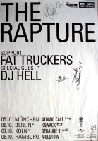 RAPTURE, THE - 2003 - Tourplakat - Concert - Echoes - Tourposter - Autogramme