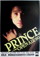 PRINCE - 1990 - Plakat - In Concert - Open Air Tour - Poster - Köln - B