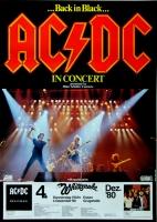 AC/DC - ACDC - 1980 - Plakat - In Concert - Whitesnake - Poster - Essen