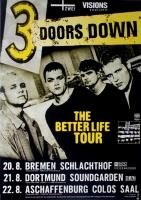 3 DOORS DOWN - 2000 - Plakat - In Concert - Better Life Tour - Poster - G