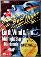 BLACK BEAT NIGHT - 1990 - Concert - Earth Wind Fire - Snap - Poster - Stuttgart