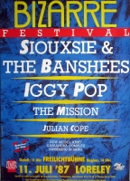 BIZARRE FESTIVAL - 1987 - Siouxsie - Banshees - Iggy Pop - Poster - Loreley