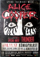 COOPER, ALICE - 2017 - In Conncert - Poster - Krefeld - Signed / Autogramm