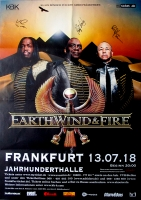EARTH WIND & FIRE - 2018 - Conncert - Poster - Frankfurt - Signed / Autogramm