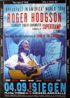 HODGSON, ROGER - SUPERTRAMP - 2015 - Poster - Siegen - Signed / Autogramm