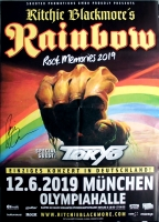 RAINBOW - 2019 - Poster - In Concert - München - Signed / Autogramm