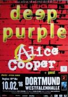 DEEP PURPLE - 2006 - Poster - Dortmund - Alice Coopper - Signed / Autogramm