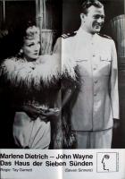DAS HAUS DER SIEBEN SÜNDEN - Plakat - Marlene Dietrich - John Wane - Poster