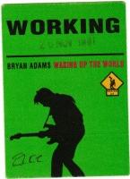 ADAMS, BRYAN - 1994 - Working Pass - Waking Up the World Tour - Stuttgart