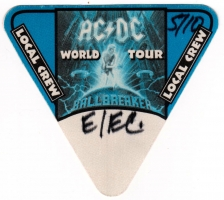 AC/DC - ACDC - 1996 - Local Crew Pass - Ballbreaker - World Tour - Stuttgart