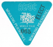 AC/DC - ACDC - 1991 - Working Pass - The Razors Edge - World Tour - Stuttgart