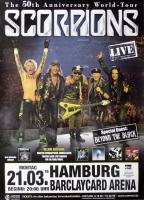 SCORPIONS - 2016 - Plakat - Beyond the Black - World Tour - Poster - Hamburg