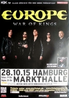 EUROPE - 2015 - Plakat - In Concert - War of Kings - Poster - Hamburg