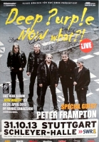DEEP PURPLE - 2013 - Poster - Peter Frampton - Stuttgart - Signed / Autogramm