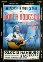 HODGSON, ROGER - SUPERTRAMP - 2012 - Poster - Hamburg - Signed/Autogramm