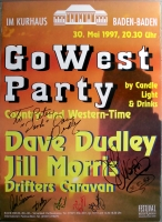 GO WEST PARTY - 1997 - Dave Dudly - Jill Morris - Poster - Signiert - Baden Bade