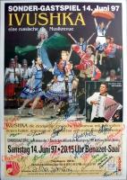 IVUSHKA - 1997 - Poster - Russische Musikrevue -  Autogramme/signed - Baden