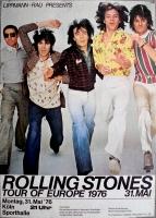 ROLLING STONES - 1976-05-31 - Plakat - Concert - Europe Tour - Poster - Köln