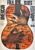 AMERICAN FOLK & BLUES - 1969 - Plakat - Günther Kieser - Poster - Hamburg