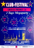 CLUB FESTIVAL - 1994 - Tony Sheridan - Beatles - Tremeloes - Poster - Hamburg