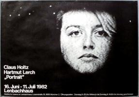 AUSSTELLUNG: HOLTZ / LERCH - 1982 - Plakat - Portrait - Poster - München