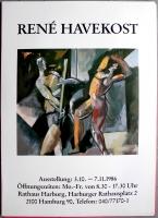 AUSSTELLUNG: RENE HAVEKOST - 1986 - Plakat - Poster - Hamburg