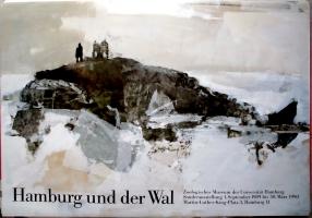AUSSTELLUNG: HAMBURG UND DER WAL - 1989 - Plakat - Poster - Hamburg