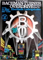 BACHMAN TURNER OVERDRIVE - 1975 - Plakat - Thin Lizzy - Poster - Ludwigshafen