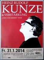 KUNZE, HEINZ RUDOLF - 2014 - Plakat - Stein vom... Tour - Poster - Hannover