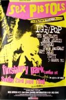 SEX PISTOLS - 1996 - Buzzcocks - Iggy Pop - Filthy Lucre Tour - Poster - London