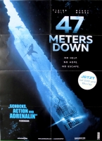 47 METERS DOWN - 2017 - Film - Plakat - Claire Holt - Matthew Modine - Poster